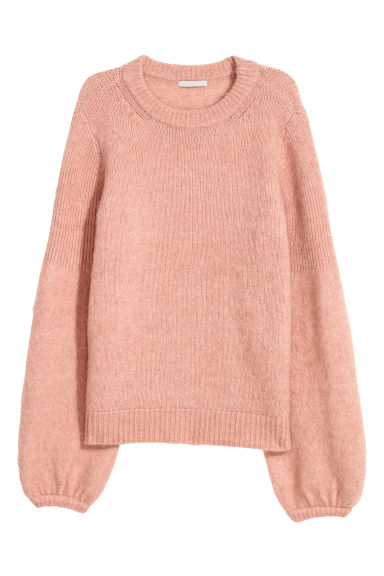 Mohair-blend jumper - Powder pink -  | H&M