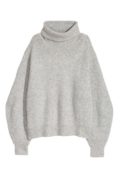 Knitted jumper - Light grey - Ladies | H&M IE
