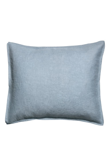 Washed linen pillowcase - Pigeon blue - Home All | H&M GB