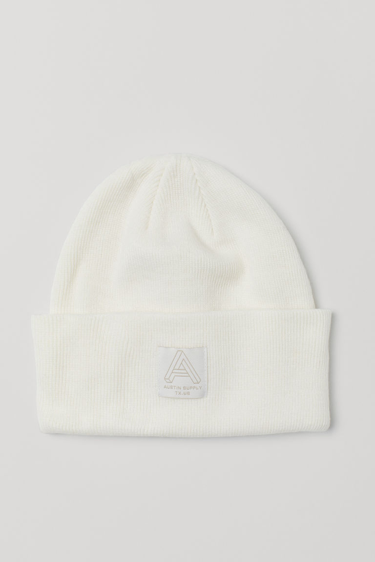 Fine-knit hat - White - Men | H&M