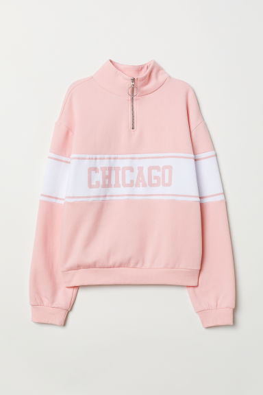 Sweater met kraag - Lichtroze/Chicago - DAMES | H&M BE