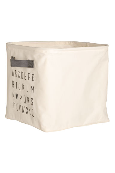 Storage box - Natural white -  | H&M GB
