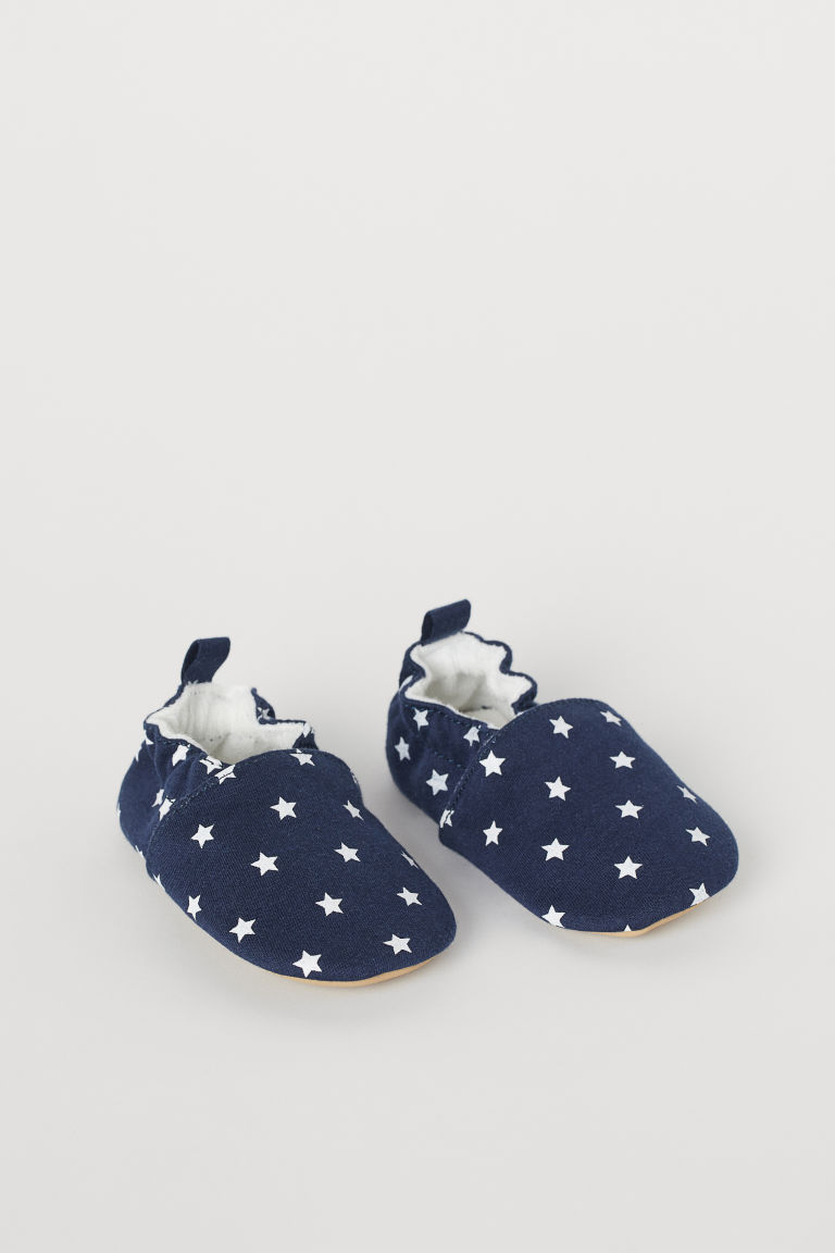 Soft Slippers - Dark blue/stars - Kids | H&M US