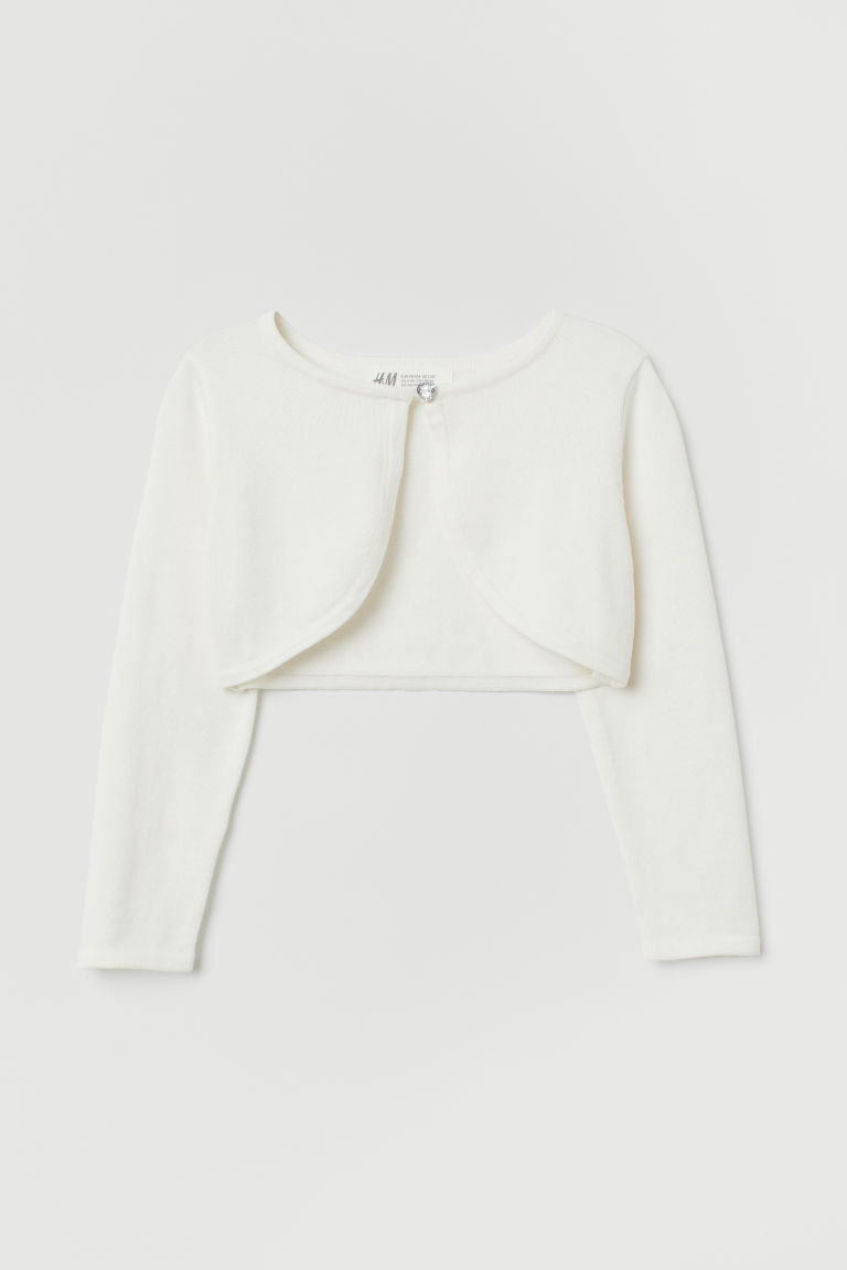 Cotton bolero - White -  | H&M IN