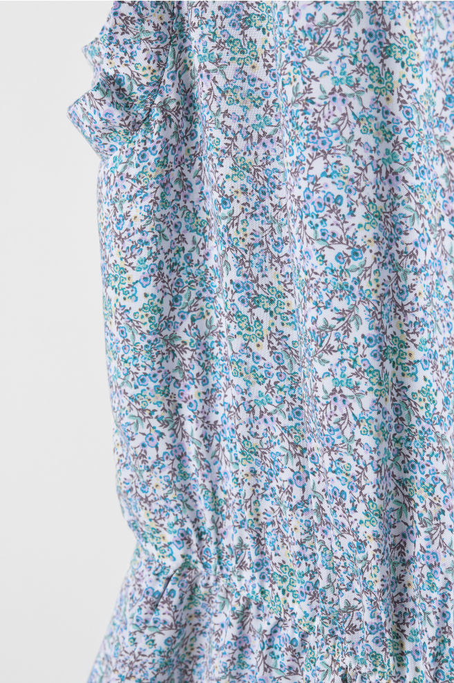 57b388c4e5e Sleeveless Jumpsuit - White small flowers - Ladies