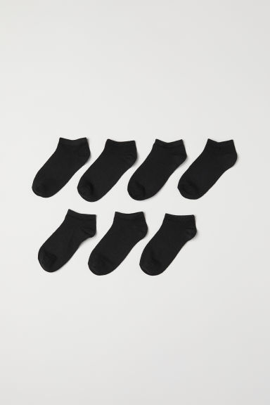 7-pack trainer socks - Black - Kids | H&M