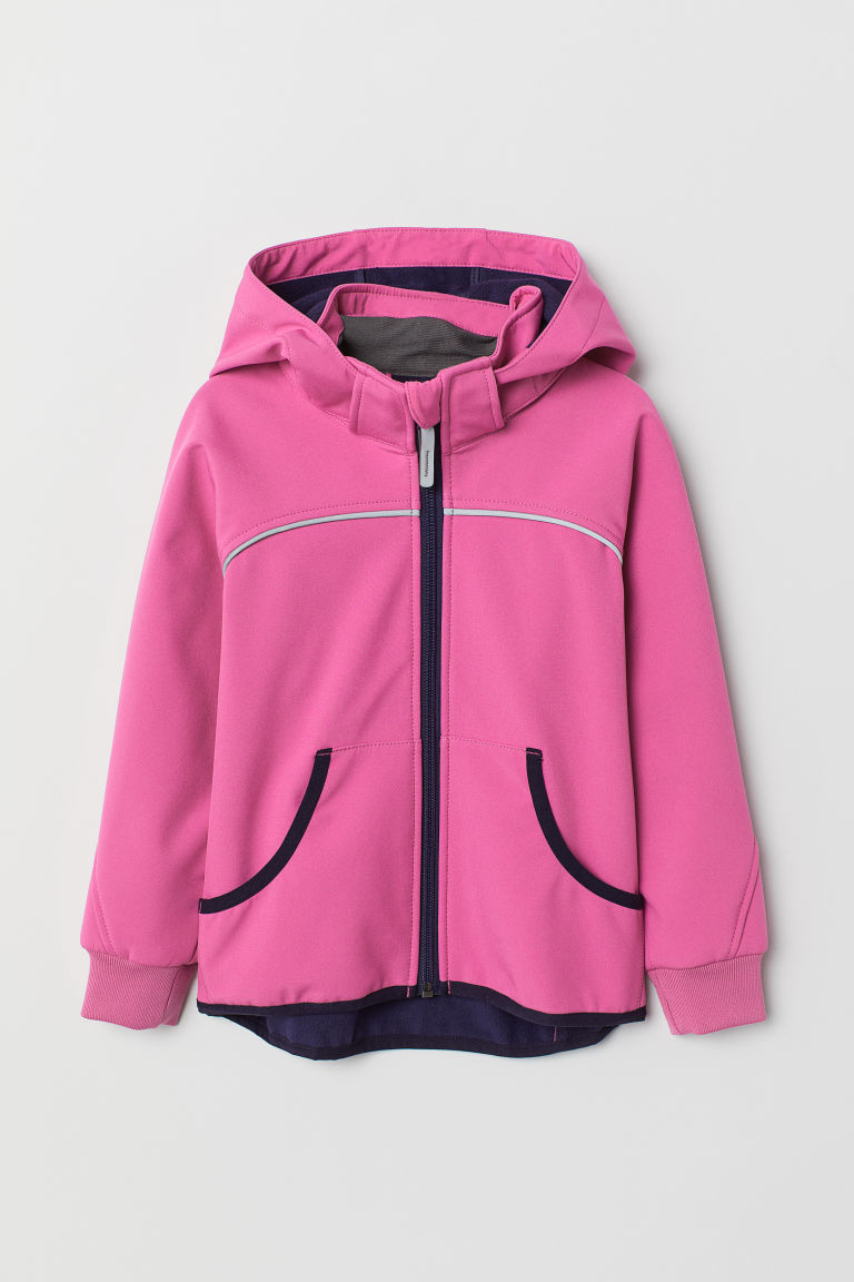 Water-repellent shell jacket - Cerise -  | H&M