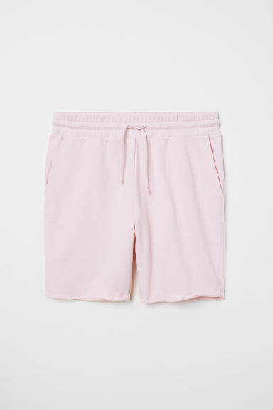 Raw-edged sweatshirt shorts - Light pink - Men | H&M CN