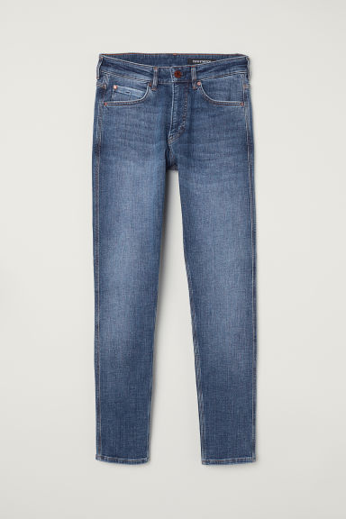 Tech Stretch Skinny Jeans - Niebieski/Sprany - ON | H&M PL