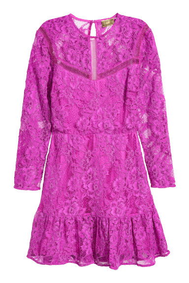 Lace dress - Magenta -  | H&M IE