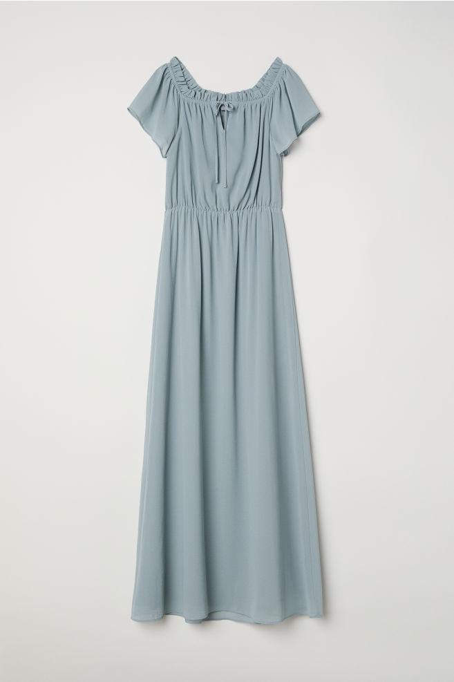 9c1295e7b5fb Long Off-the-shoulder Dress - Light turquoise - Ladies