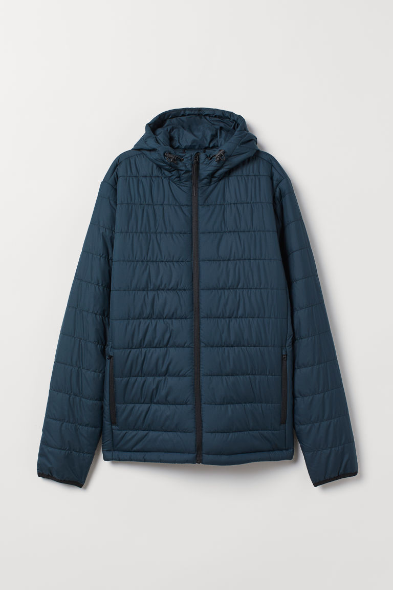 Padded outdoor jacket - Dark petrol - Men | H&M