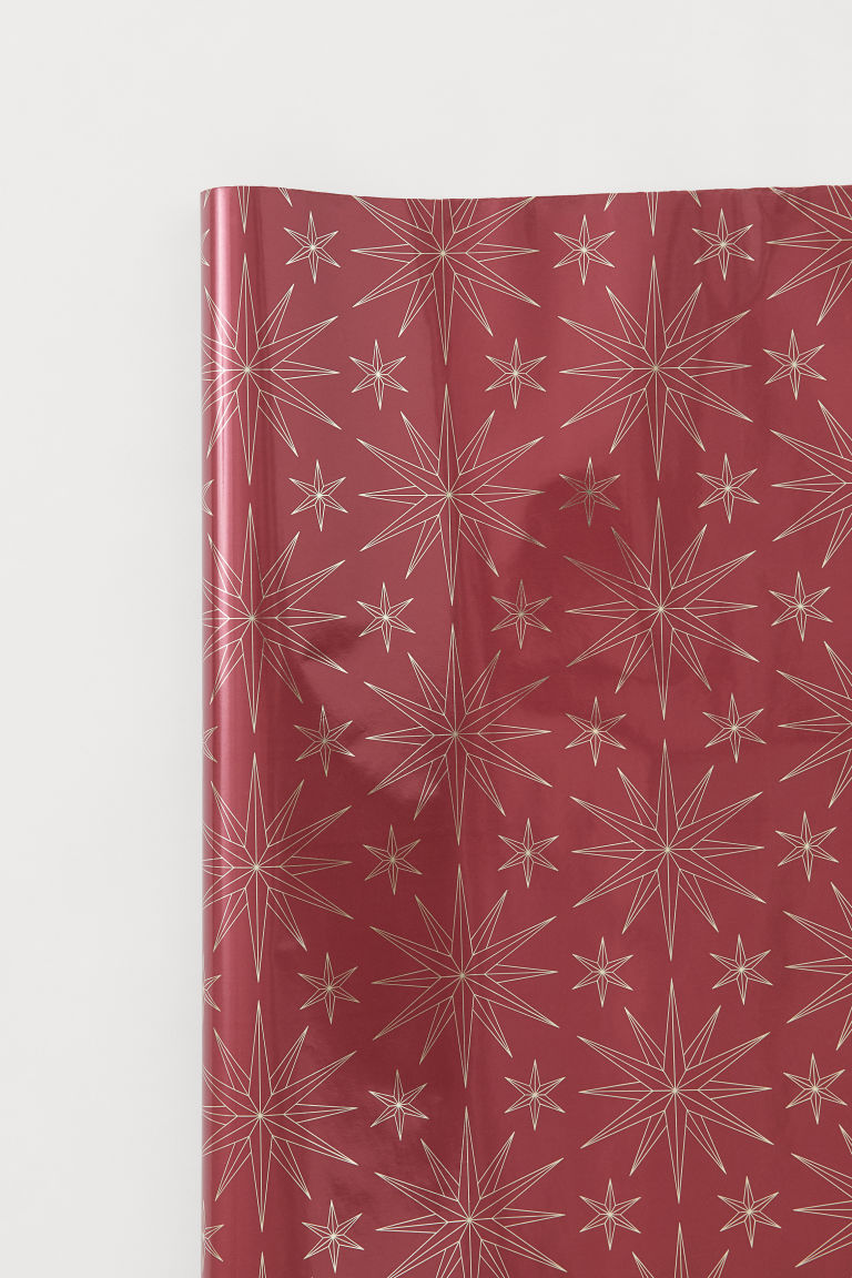 Gift Wrap - Dark red/stars - Home All | H&M CA
