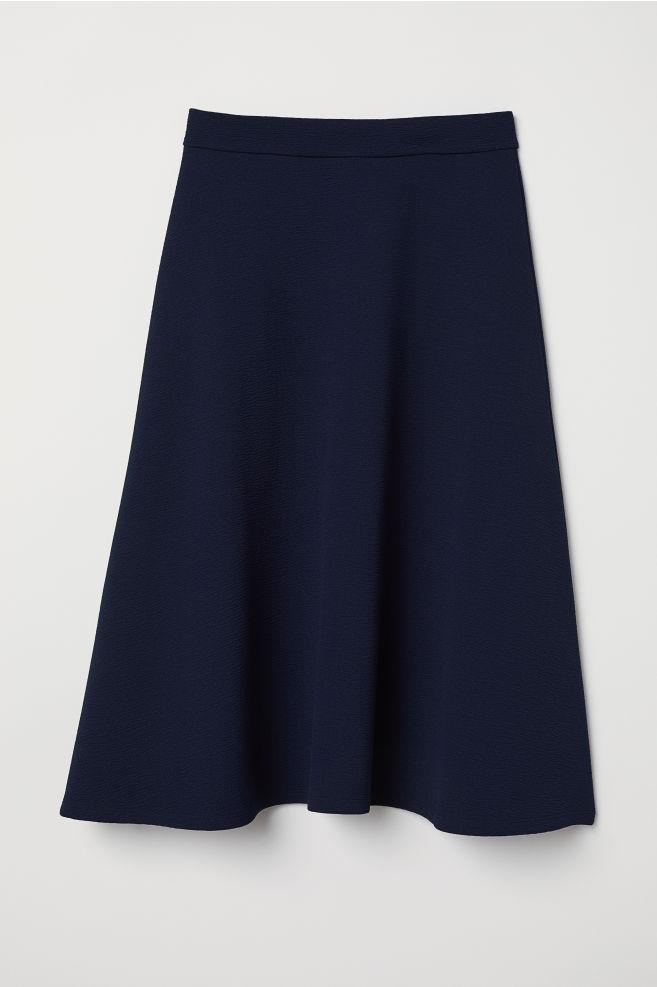 9208a64da8fd Skater skirt - Dark blue - Ladies   H&M ...