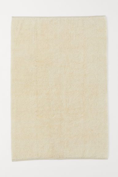 Wool-blend rya rug - Natural white - Home All | H&M CN