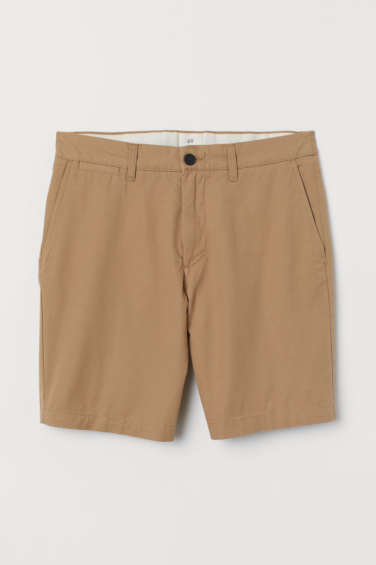 Chino shorts - Khaki beige - Men | H&M CN