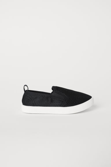 Slip-on mesh trainers - Black - Kids | H&M CN