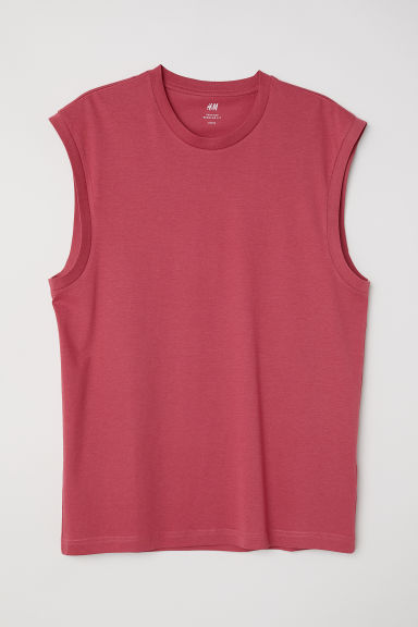 Vest top Regular fit - Pale red - Men | H&M CN