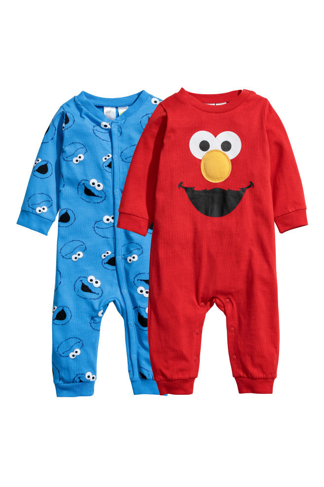 3fade367827a 2-pack pyjamas - Red Sesame Street - Kids