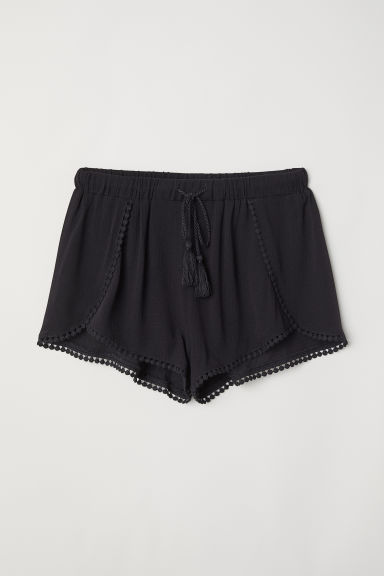 Pull-on shorts - Black - Ladies | H&M