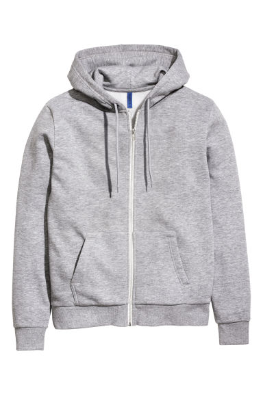 Hooded jacket - Grey marl - Men | H&M CN