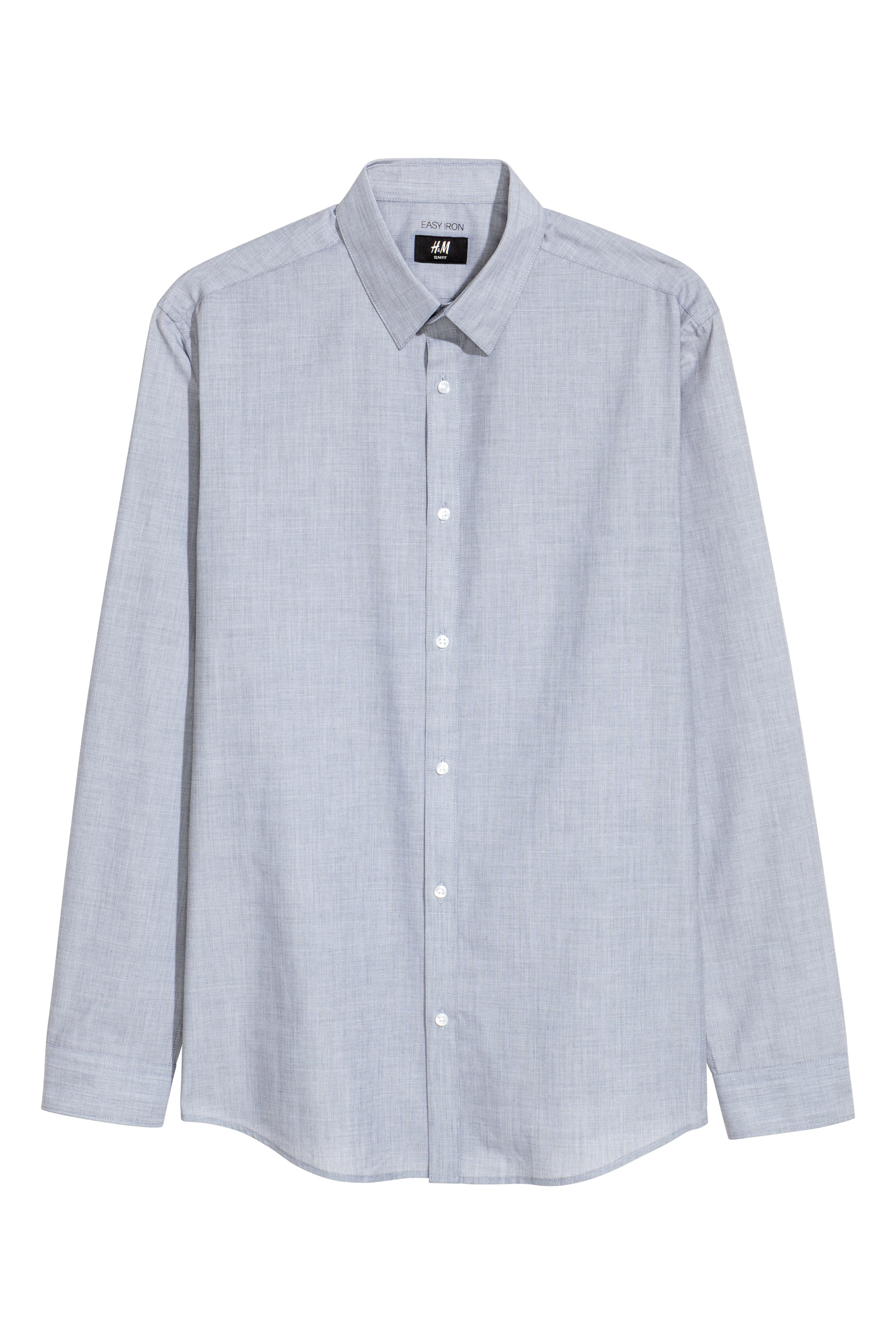 ac452389618 Easy-iron Shirt Slim fit - Blue/chambray - Men | H&M US