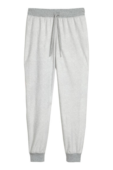 Fleece pyjama bottoms - Light grey -  | H&M CN