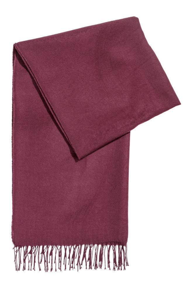 8e8c7f92a003e Woven Scarf - Dark purple -   H&M ...