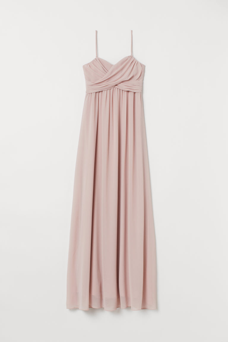 Langes Bandeaukleid - Puderrosa - Ladies | H&M AT