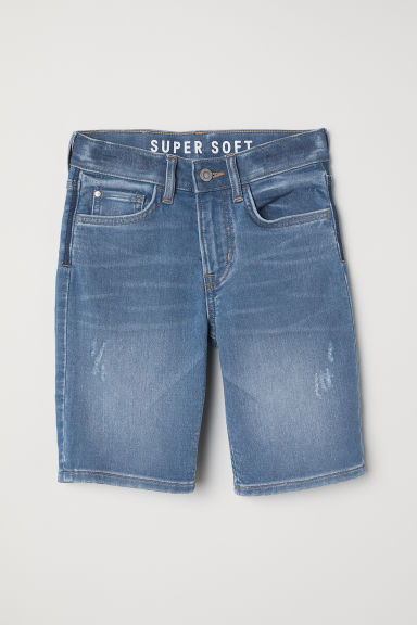 Jeansshort - Slim fit - Denimblauw - KINDEREN | H&M BE