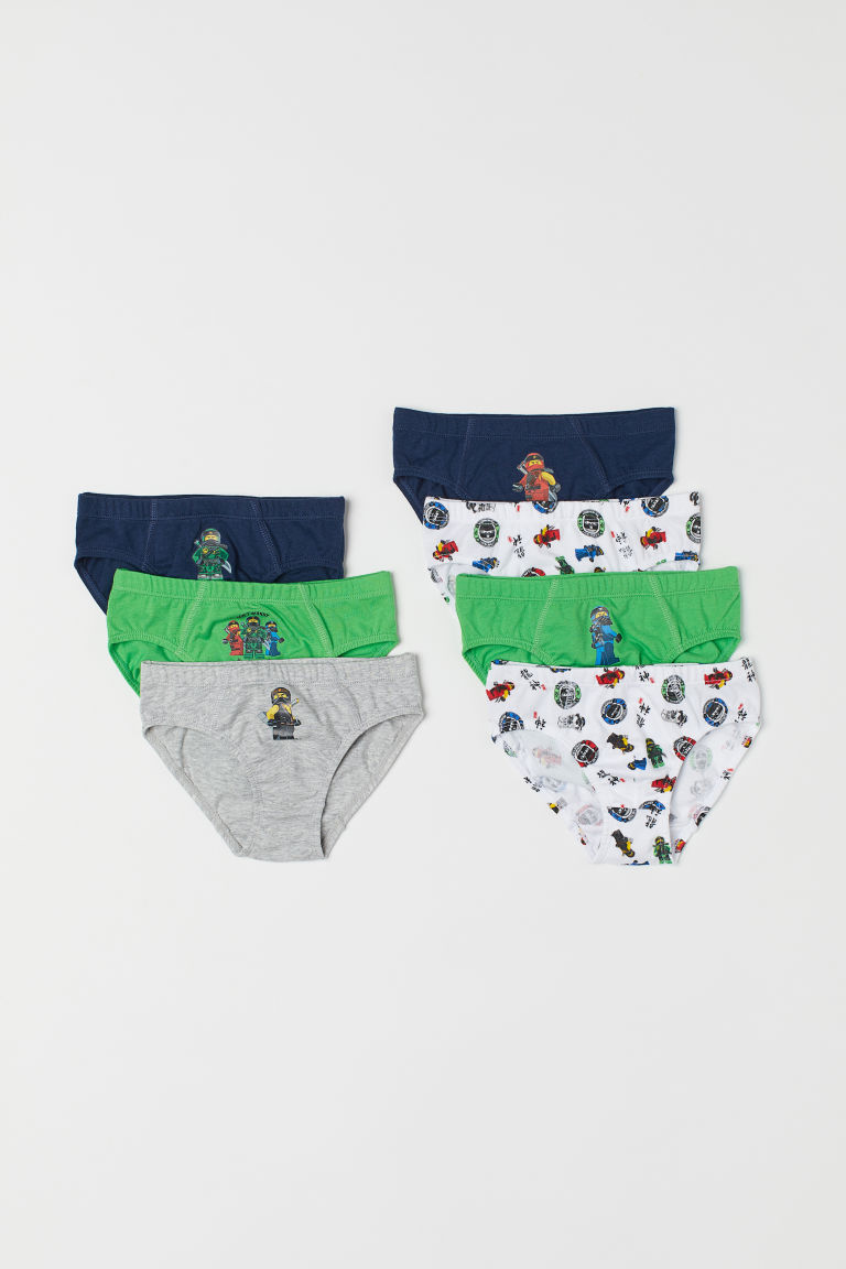 7-pack boys' briefs - Dark blue/Lego - Kids | H&M CN