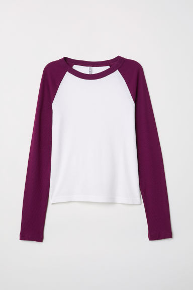 Fitted baseball top - Purple -  | H&M