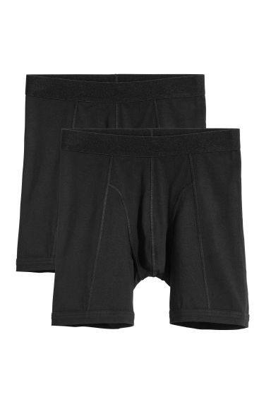 2-pack long trunks - Black - Men | H&M
