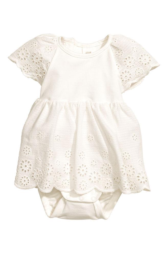 492902fd6a24 Vyšívané bavlnené šaty - biela - DETI