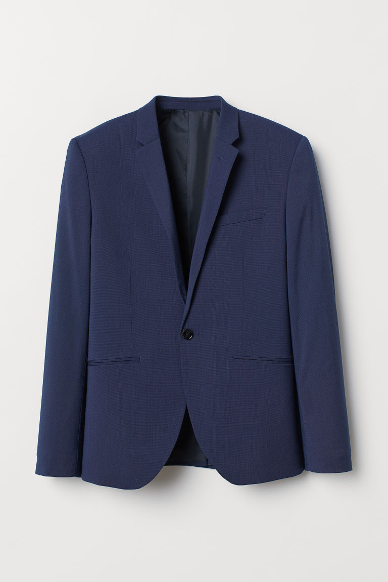 Super Skinny Fit Blazer - Dark blue - Men | H&M CA