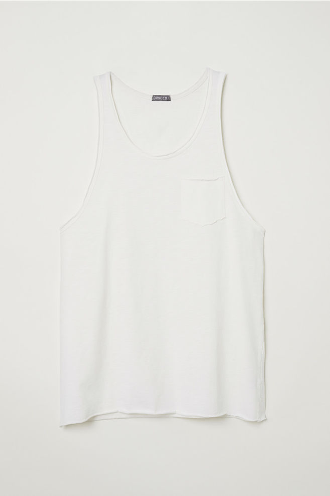 638c20f1ec5cc5 Slub Jersey Tank Top - Natural white - Men
