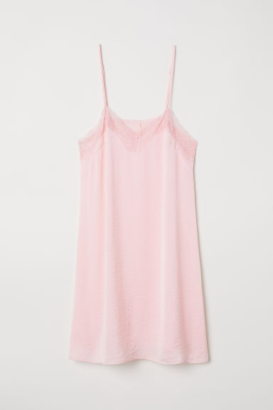Satin nightslip - Light pink -  | H&M CN