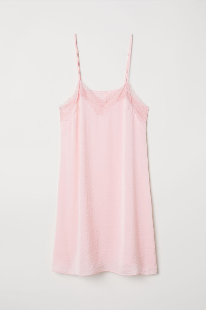 d79e44081cc07 Satin nightslip - Light pink - Ladies