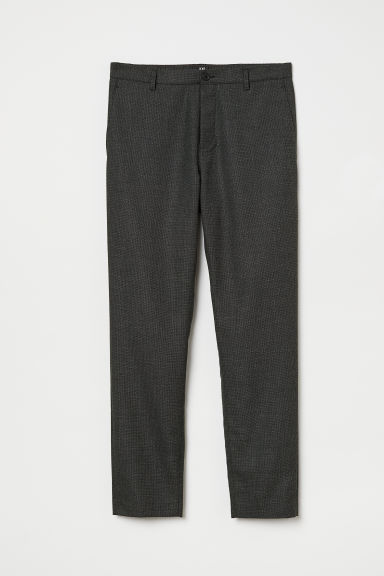 Chinos Slim Fit - Dark grey marl - Men | H&M