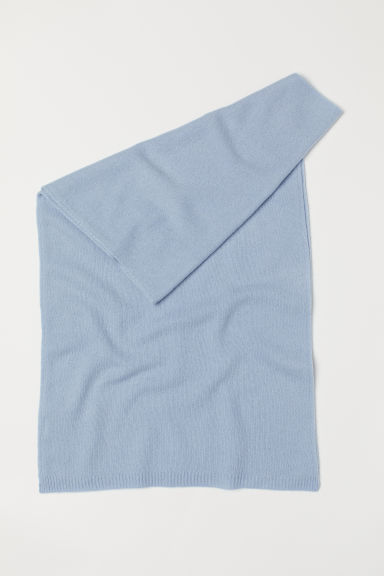 Cashmere scarf - Light blue - Ladies | H&M CN