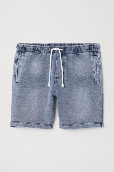 Shorts in felpa - Blu denim - UOMO | H&M IT