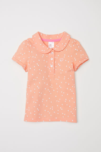 Polo shirt - Peach/Hearts -  | H&M CN