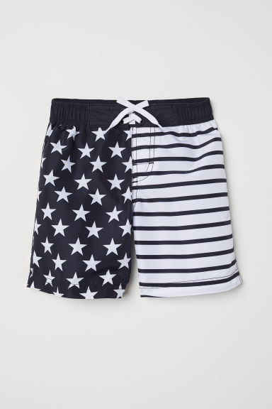 Patterned swim shorts - Black/Stars -  | H&M CN