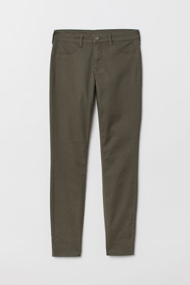 Skinny Regular Ankle Jeans - Dark khaki green - Ladies | H&M