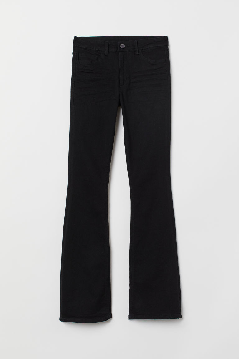 Mini Flare Regular Jeans - Black -  | H&M CN