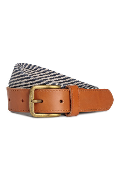 Webbing belt - Dark blue/White -  | H&M