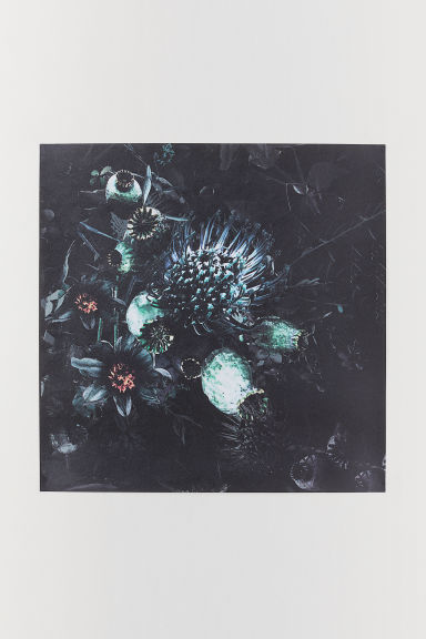 Poster 25x25 cm - Nero/fiori - HOME | H&M IT