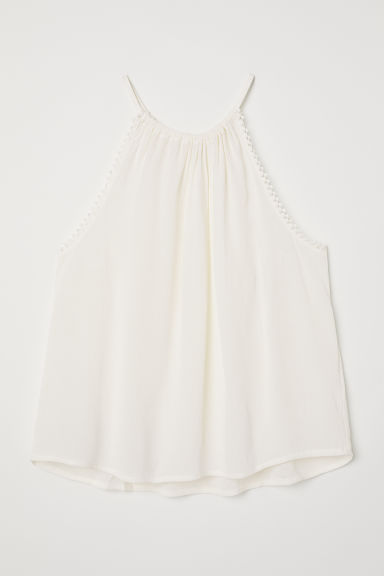 Top arrugado - Blanco -  | H&M ES