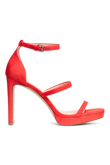 Platform sandals - Bright red - Ladies | H&M