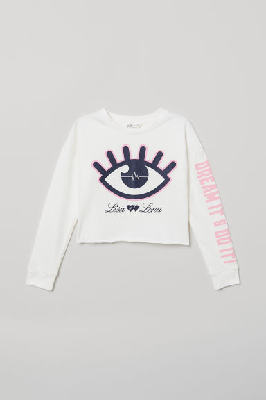 Short sweatshirt - White/Lisa & Lena - Kids | H&M CN